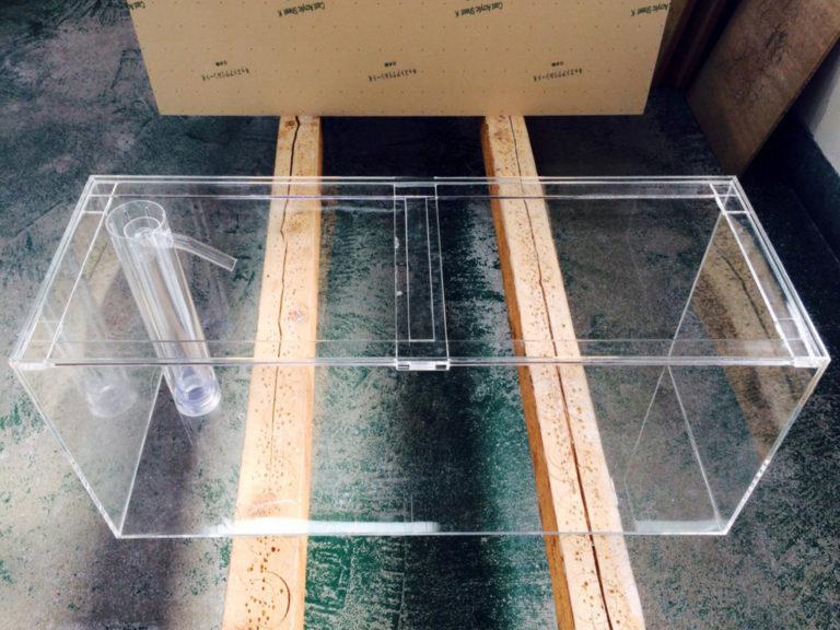 【オーダーメイド水槽】オールクリアのOFアクリル水槽