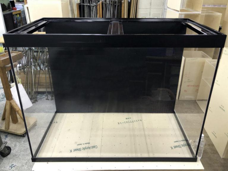 【オーダーメイド水槽】背面ブラック・帯付きアクリル水槽