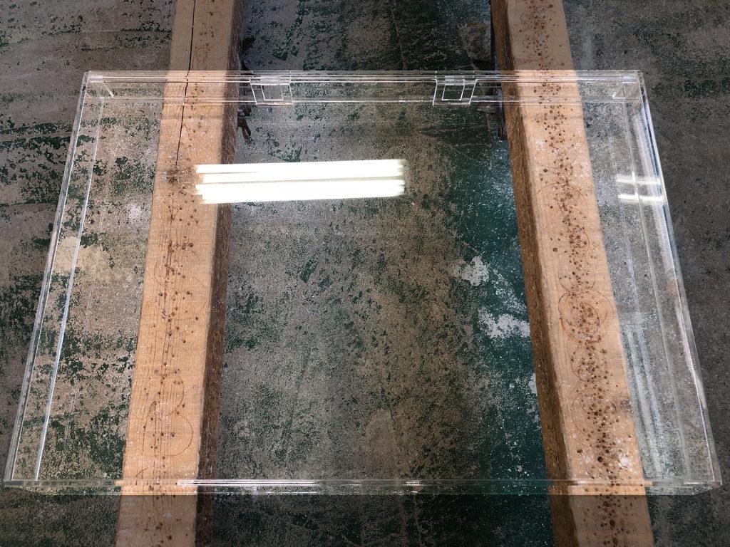 【オーダーメイドアクリル水槽】奥行きが浅い特殊水槽