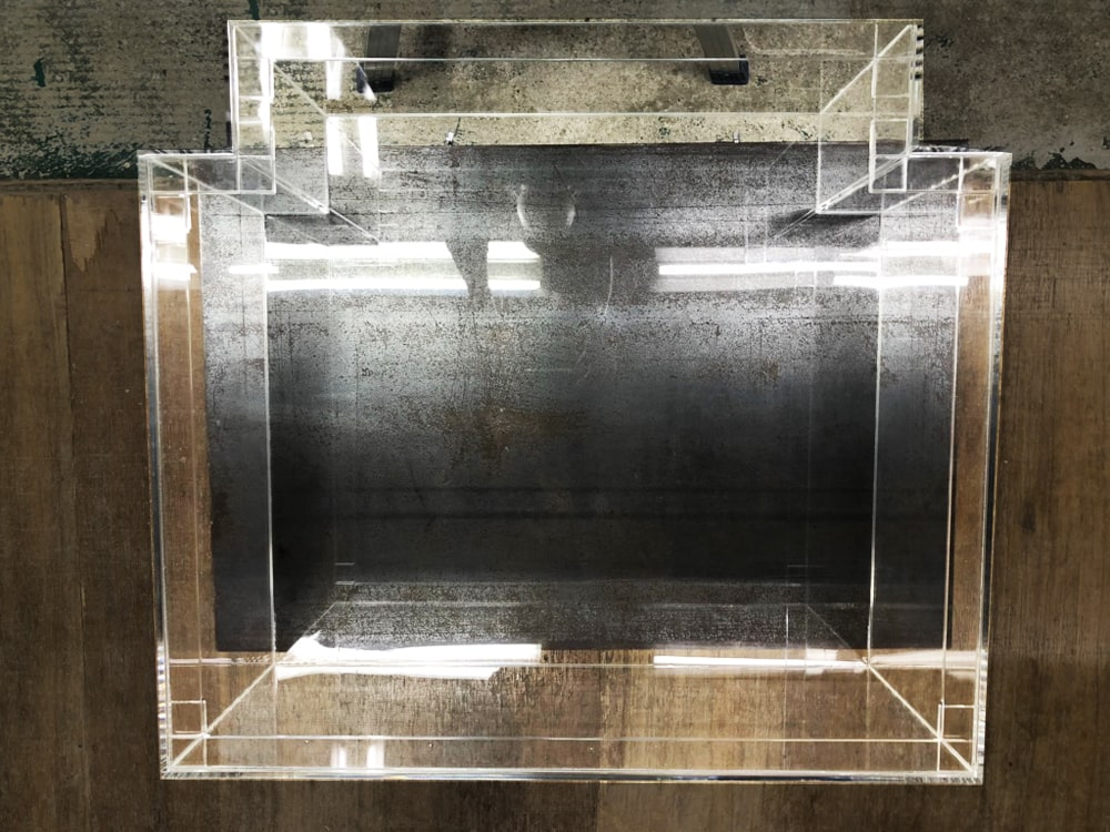 【オーダーメイドアクリル水槽】凸型のアクリル水槽